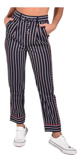 Pantalón Hoku Tommy Azul Ww0ww25324-503 Mujer