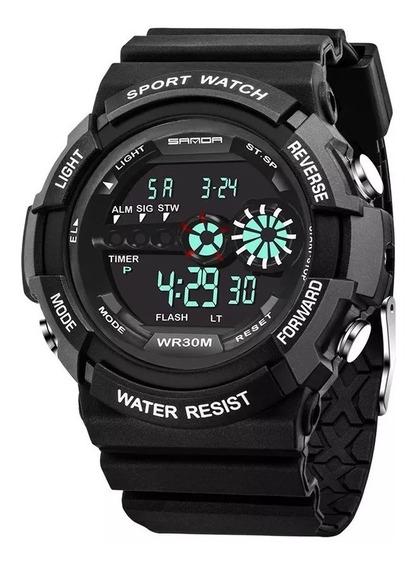 Relógio Sanda 320 Militar Esportivo Digital Original
