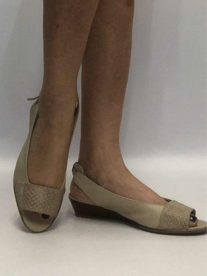 Zapatos Mujer Nro 38 X L. Excelente Estrenado Beige