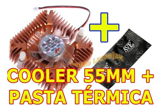 Cooler Cobre 55mm + Pasta Térmica Vga Video Nvidia Amd Intel