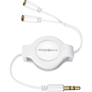 Cable Doble Para Auriculares, Chargeworx Cx5514wh Blanco
