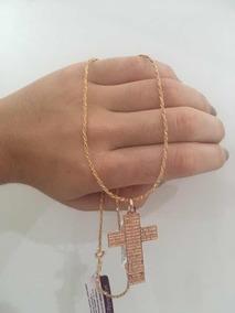 Cruz Rommanel Crucifixo Feminino + Correntinha Rommanel