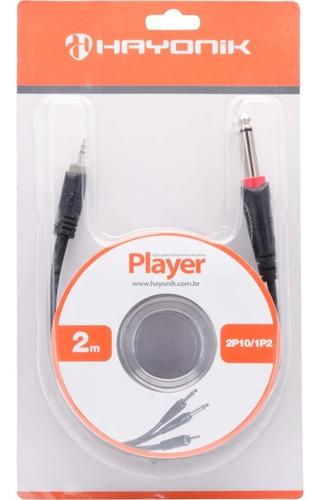 Cabo De Áudio 2 P10 Mono X P2 Estéreo 2m Player Hayonik