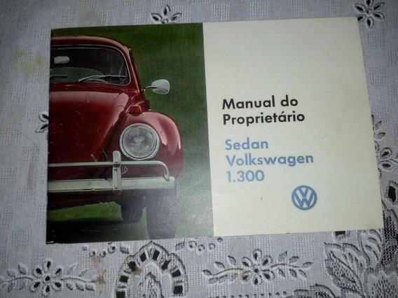 Manual Do Proprietário Do Fusca 1969 Original Wolksvagem