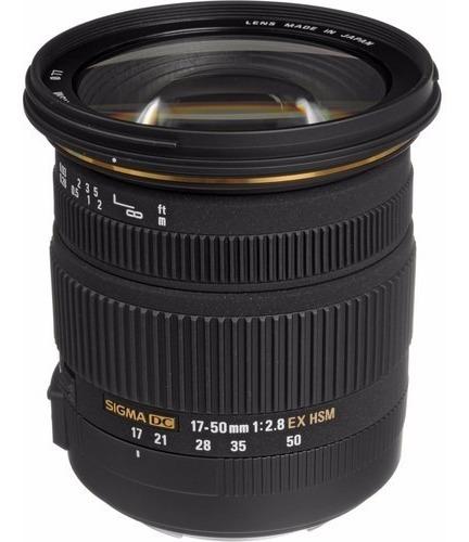 Lente Sigma 17-50mm F/2.8 Ex Dc Os Hsm Zoom Para Canon Dslrs