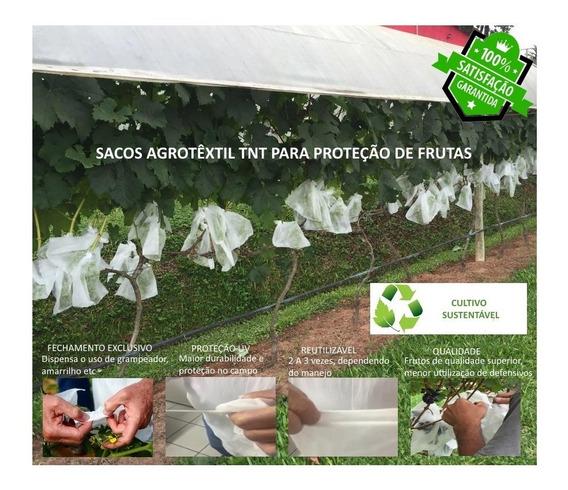 Sacos Agro Tnt C/ Elástico18x26cm Proteção Frutas 50un