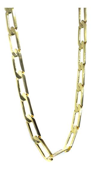 Pulseira Folheada A Ouro 22cm Grossa