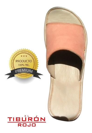 Sandalias De Piel Para Descanso, Confortables, Dama, D1cl