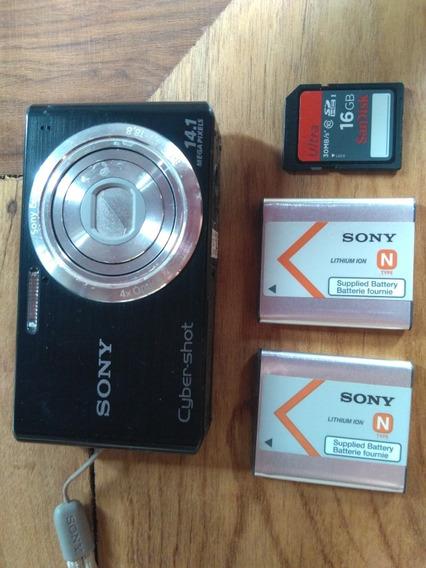 Camera Sony Dsc-w610 14.1 Mp + Acessórios