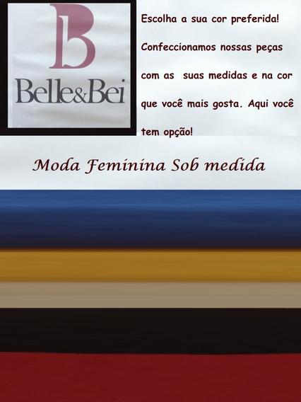 Saia Camurcim Mostarda Belle& Bei- Sob Medidas- Frete Grátis