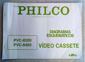 Esquemário Antigo Philco Vídeo Cassete Pvc-8200/ Pvc-8400