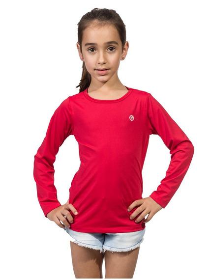 Camiseta Infantil Feminina Com Proteção Uv Fpu50+ Ice Line