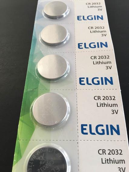 Bateria Cr2032 Elgin 3v 100 Unidades