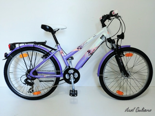 Bicicleta R24 Alemana Dinamo Luz Shimano 21v Aluxx Infantil
