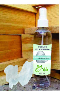 Lote 15 Desodorantes Piedra Alumbre Natural 100% Spray 120ml