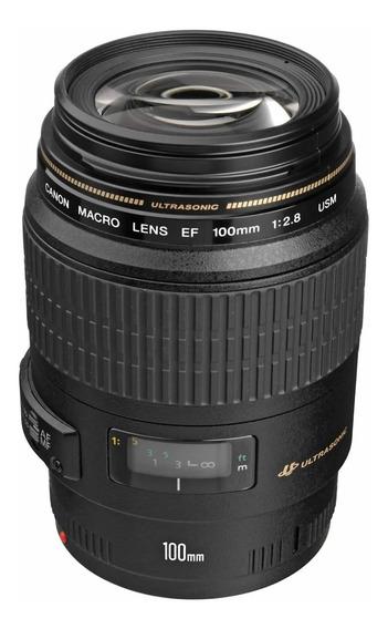 Lente Canon 100mm F/2.8 Macro Usm C/ Nf Gar. Canon Brasil