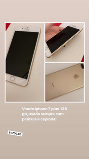 iPhone 7 Plus, Sem Detalhe De Uso, 128 G