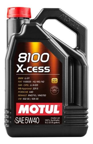Imagen 1 de 7 de Aceite 5l Motul 8100 X-cess 5w40 C/obsequio Mileban