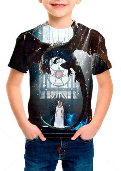 Camiseta Infantil Série Game Of Thrones 8ª Temporada M001