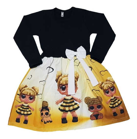 Vestido Infantil Lol Manga Longa Inverno Fab2