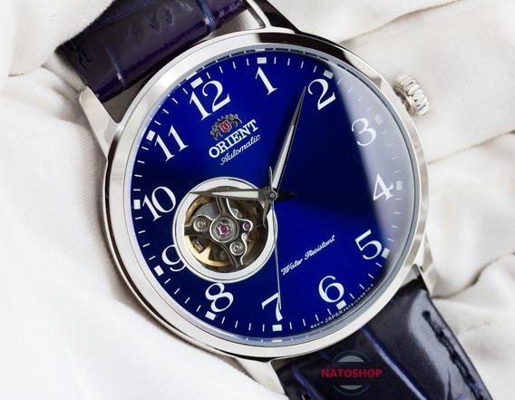 Relógio Orient Automático Open Heart Azul Ra-ag0011l10b