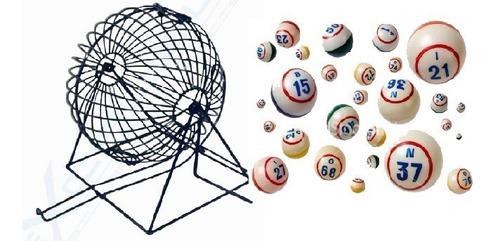 Balotero Metálico + Balotas Para Bingo + Envío
