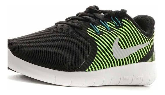 Tenis Nike Para Mujer Verde Con Negro Free