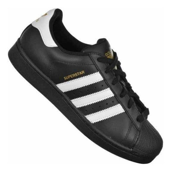 Tênis adidas Superstar Foundation Preto E Branco Original