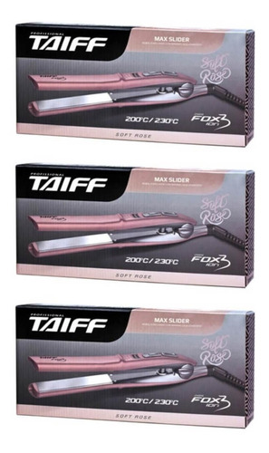 Taiff Fox Íon 3 Chapa Capilar Rose Bivolt (kit C/03)