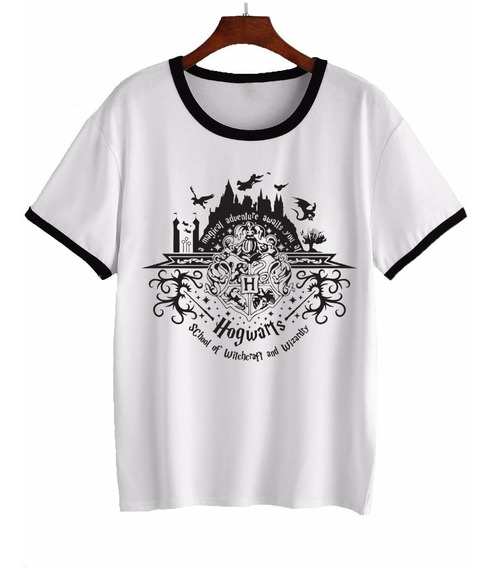 Remera Harry Potter Hogwarts Castillo Mujer