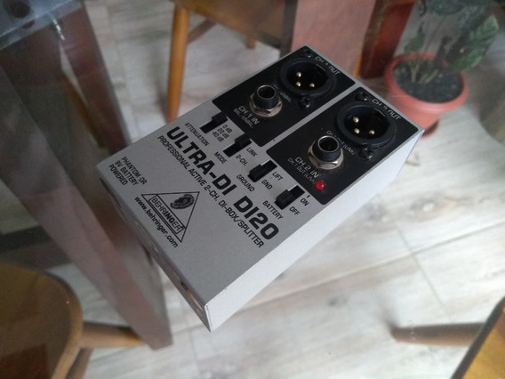 Direct Box Ativo Behringer Ultra Di20 / 2 Canais / Di 20