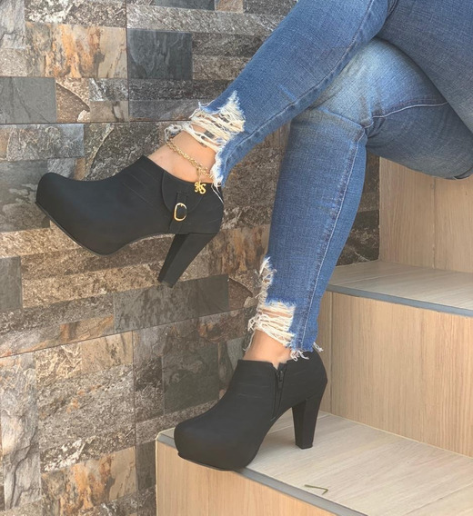 Zapatos Tacon Botín Colombiano Dama Envío Gratis