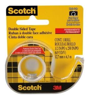 Cinta Doble Faz 3m Scotch Con Dispenser 12,7mm X 6,3m