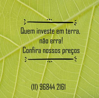 L. Terrenos Para Investir, Fácil Acesso, Ibiúna