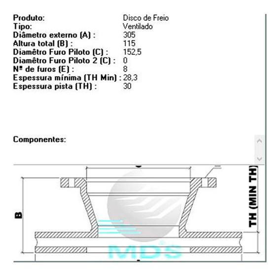 Disco De Freio - F-4000 - Dianteiro - Vent.