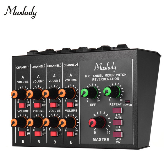 Muslady M-228a Tamanho Compacto 8 Canais Mono / Stereo Audio