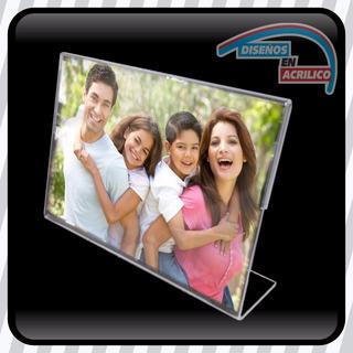 Porta Retratos De Acrílico 3mm Tamaño Postal