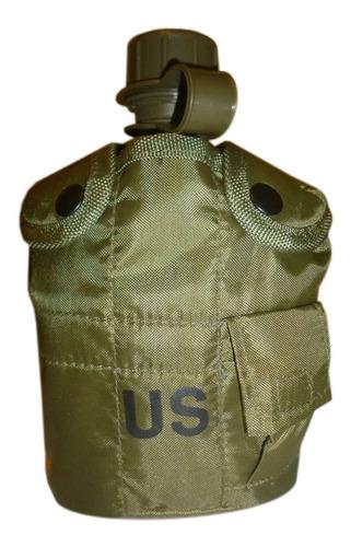 Cantimplora Estilo Militar Incluye Funda Y Vaso De Aluminio.