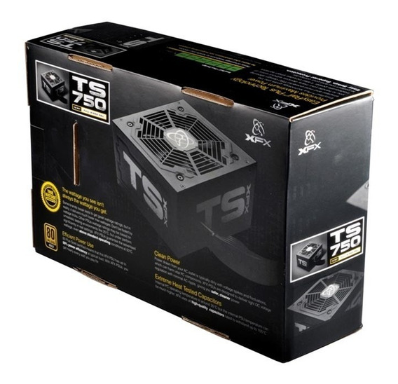 Fonte 750w Series Full Wired 80 Plus Gold P1-750g-ts3x Xfx