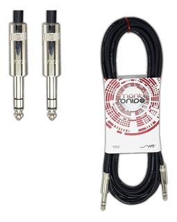Cable Plug Trs A Plug Trs 1.5 Metros Neutrik Balanceado Stereo - Montasonido