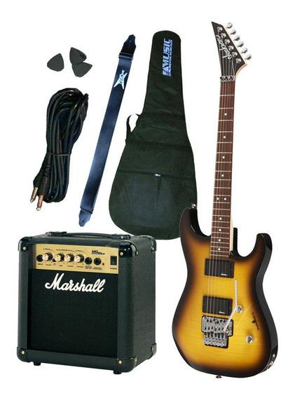 Combo Guitarra Jackson Js30 + Amplificador Marshall 10w