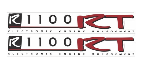 Imagem 1 de 1 de Emblema Adesivo Bmw R1100rt Par Bmwr1100rt
