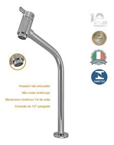 Torneira Alta Mesa Cuba Lav Metal Com Arejador Asti 1198