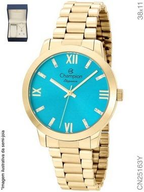 Relógio Champion Analógico Feminino Cn25163y + Kit Semijóia