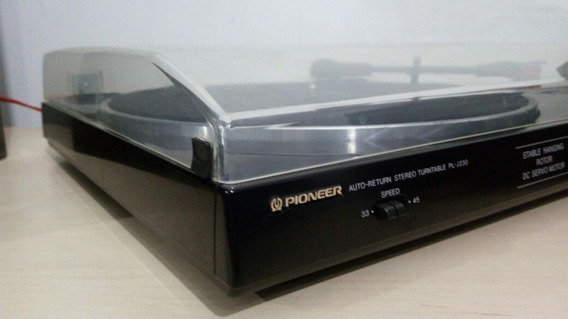 Toca Discos Pioneer Pl J230 Belt Drive 110v Assista O Video!