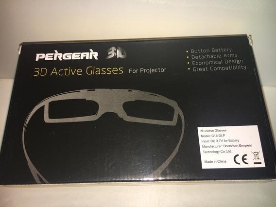 Óculos 3d Pergear Ativo Glasses Para Projetores Novo