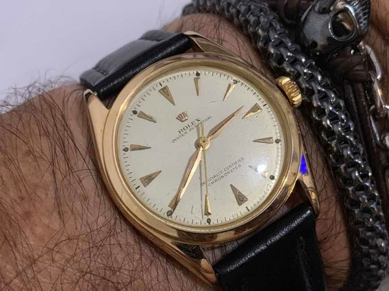 Rolex Semi Bubble Back Gold 18k 6084 Oyster Perpetual Swiss