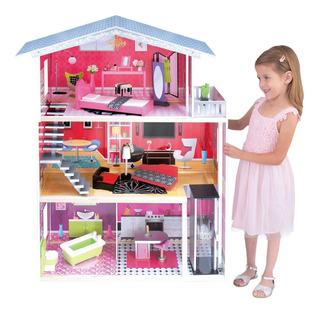 Casa De Muñecas Con Elevador Casita Para Barbies (-isabella)
