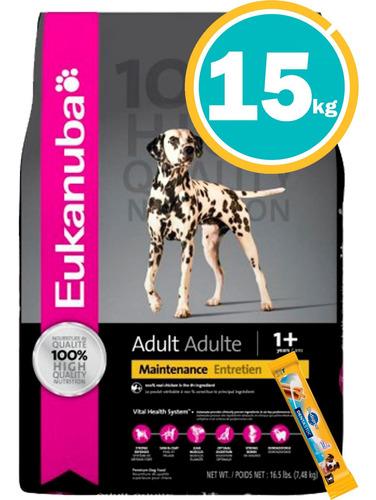 Imagen 1 de 6 de Comida Eukanuba Adulto Medianas 15kg + Dentastix + Envío
