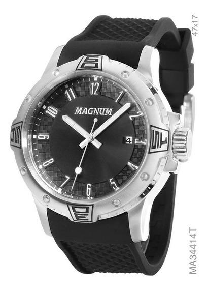 Relógio Magnum Masculino Analógico Preto Ma34414t